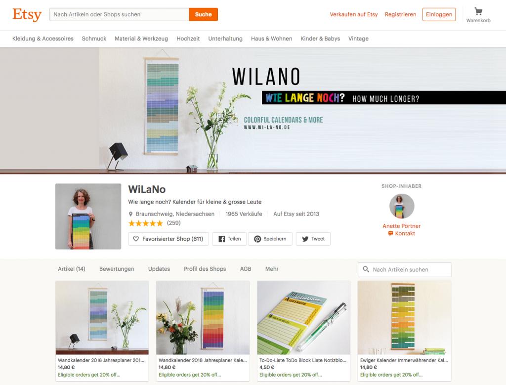 Wandkalender von Wi-La-No Designkalender minimalistische Kalender Jahresplaner