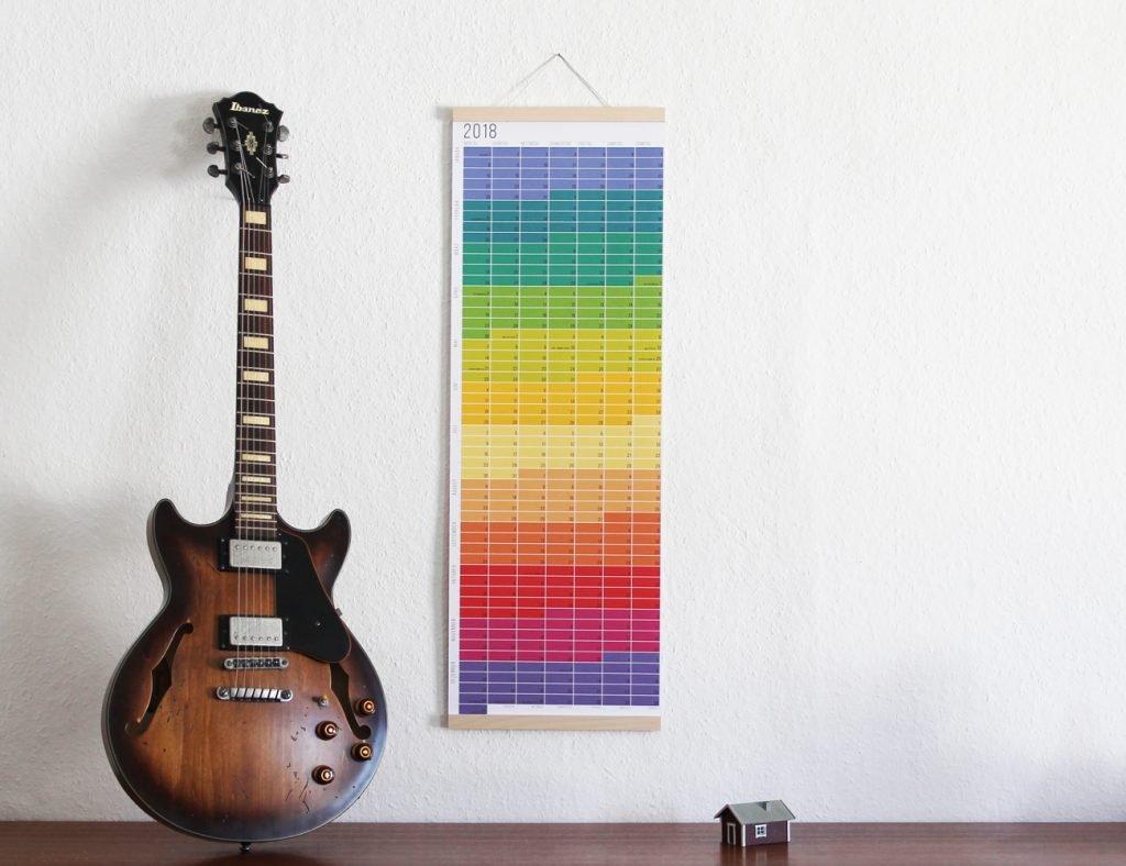 Wie lange noch? Der Kalender. Wandkalender 2018 bunt Regenbogen