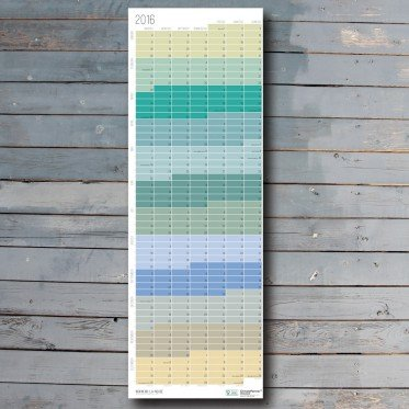 Wi-La-No Kalender in Pastell Aqua Türkis