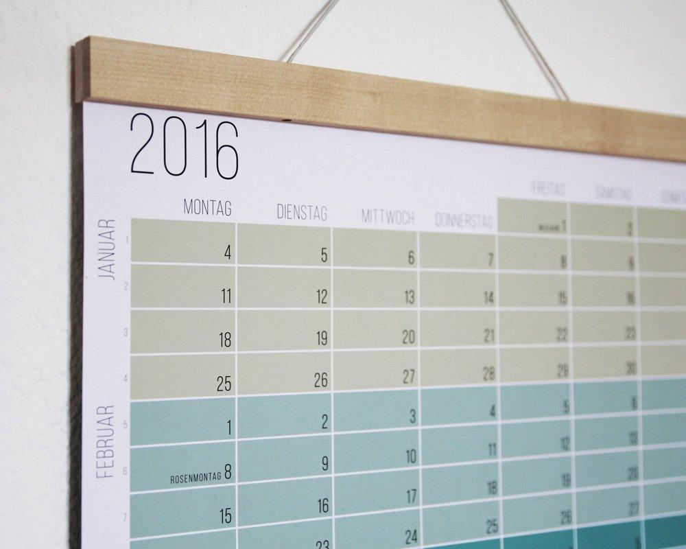 Elegante Bilderleiste als Zubehör zum Kalender