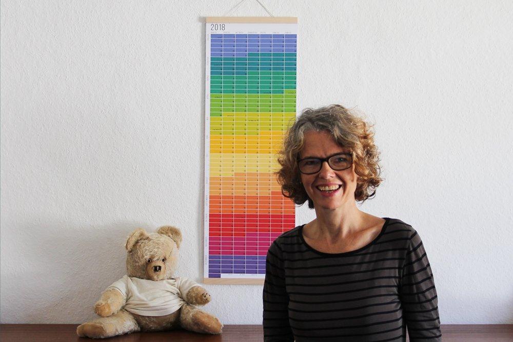Wandkalender minimalistisch Wallplanner 2018 Jahresplaner Kalender Calendar 2018