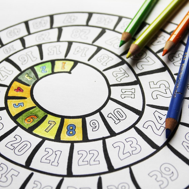 Anleitung zum Basteln eines DIY Countdowns