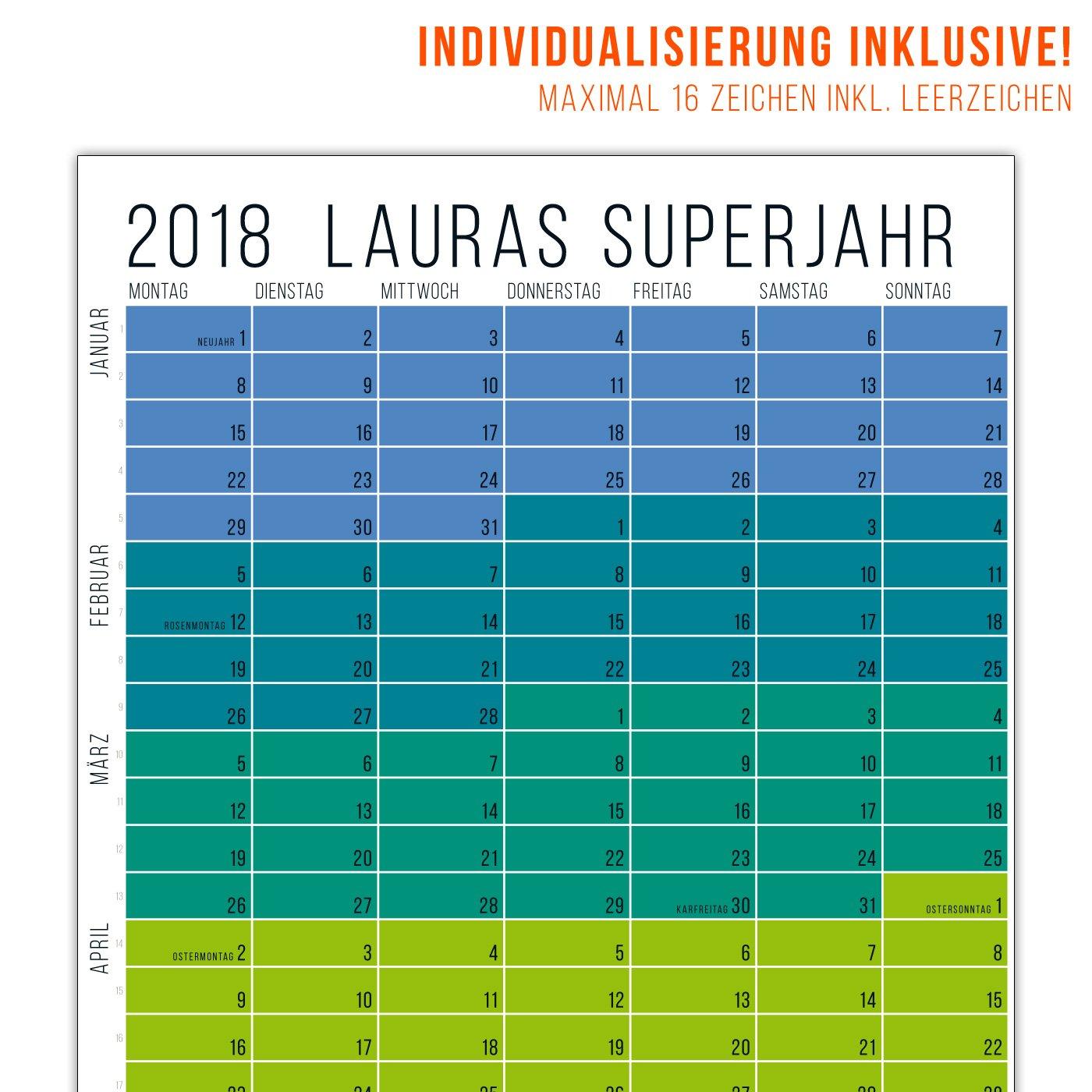 Das ganz besondere Weihnachtsgeschenk: Personalisierter Wandkalender für 2018