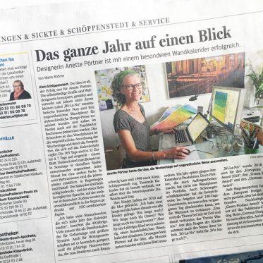 Zeitungsartikel in der Wolfenbütteler Zeitung