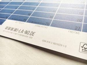 ISBN Wandkalender 2019 Pastell von Wi-La-No