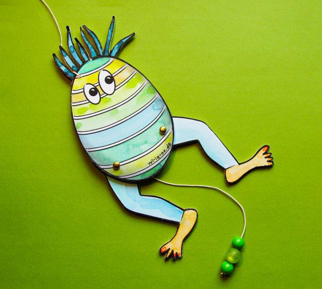 Das DIY Hampel-Ei zu Ostern. Basteln mit Wi-La-No.