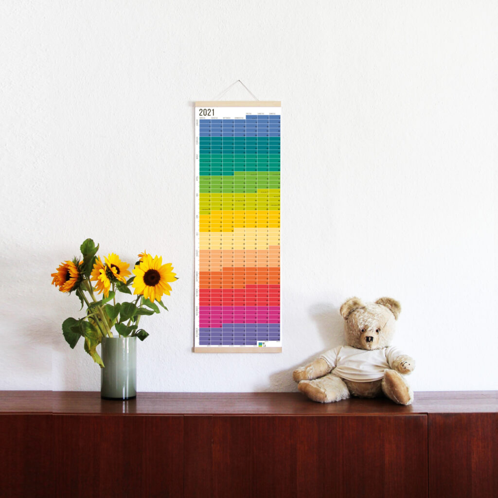 wandkalender 2021 wallplanner Jahresplaner Designkalender calendar 2021 wi-la-no wilano