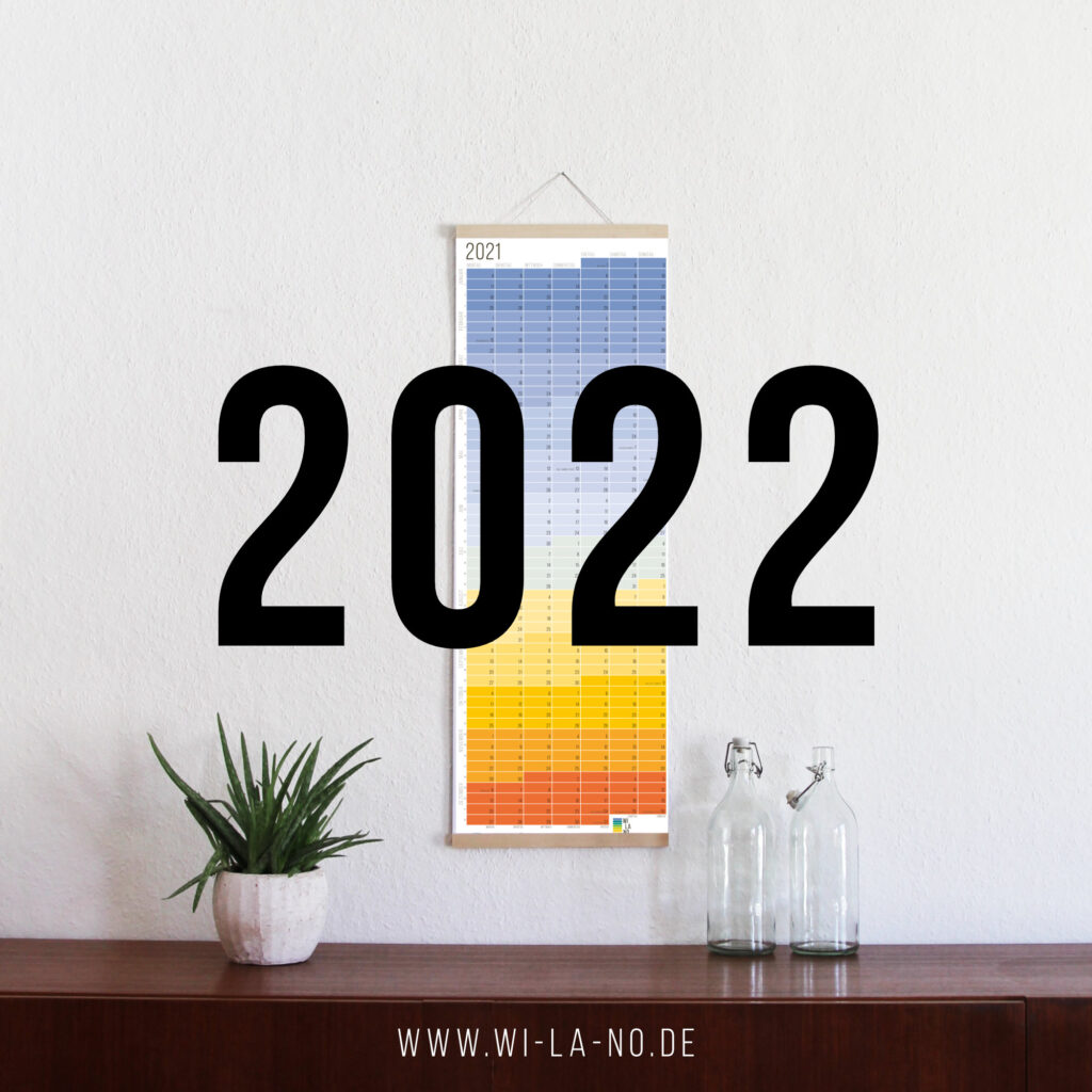wandkalender 2022 wallplanner Jahresplaner Designkalender calendar 2022 wi-la-no wilano