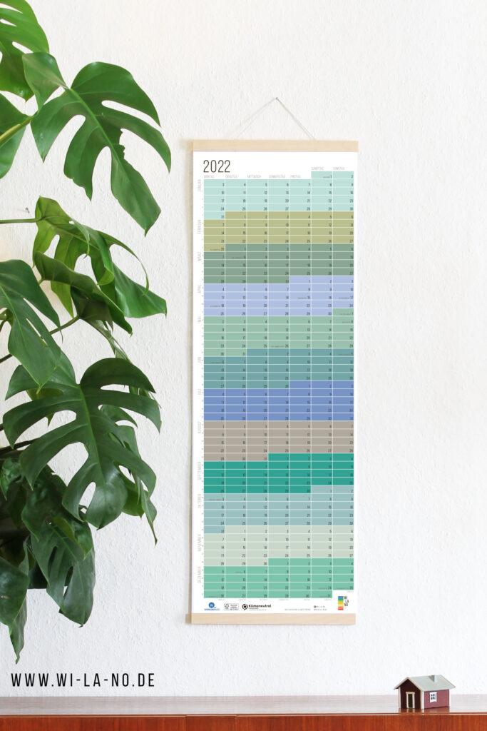 2022 Wandkalender Jahresplaner Wi-La-No Calendar Designkalender Pastell