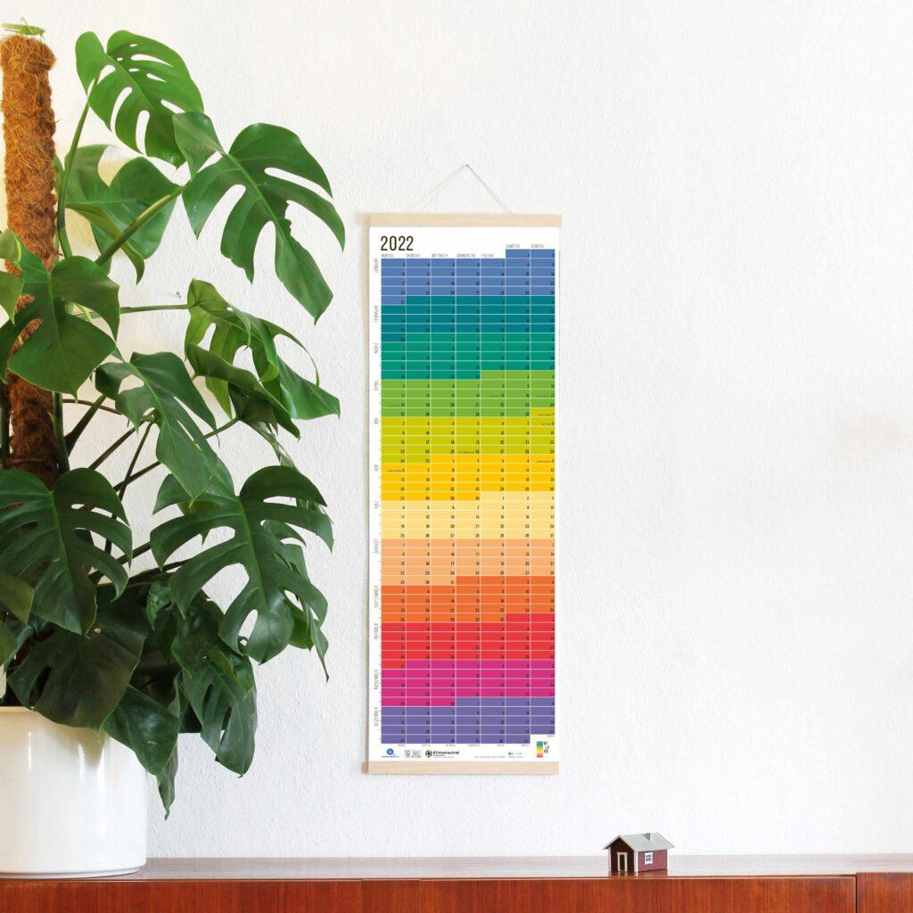2022 Wandkalender Jahresplaner Wi-La-No Calendar Designkalender Regenbogen