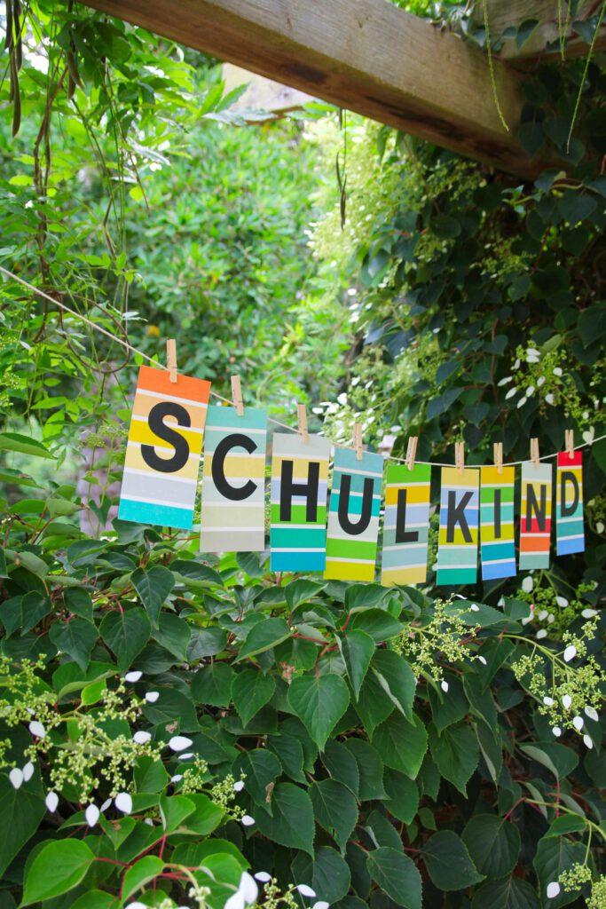 Typografie Buchstabenkarten ABC Alphabet Einschulung Schulkind
